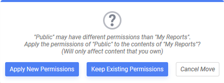 Choose Apply New Permissions, Keep Existing Permissions or Cancel Move
